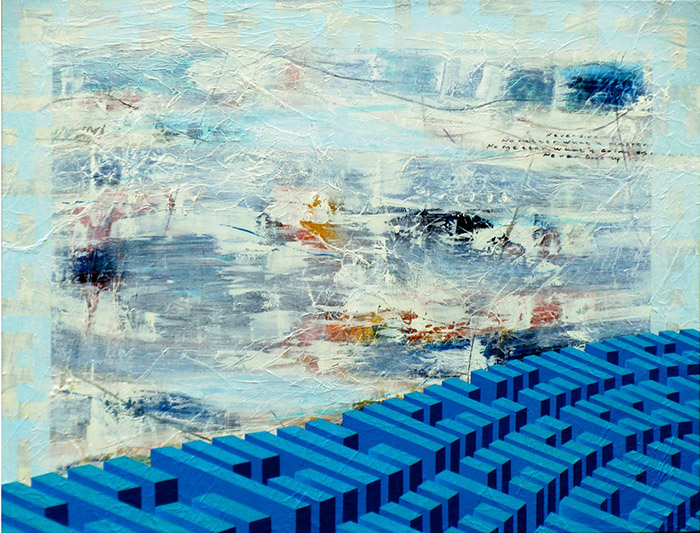 Blue of change, 95 x 125 cm, 2012, Mixed Media Canvas