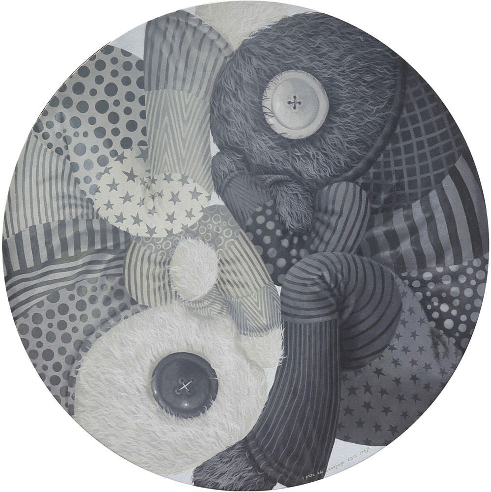 Yin Yang, Diameter 100 cm, 2015, Acrylic on Canvas