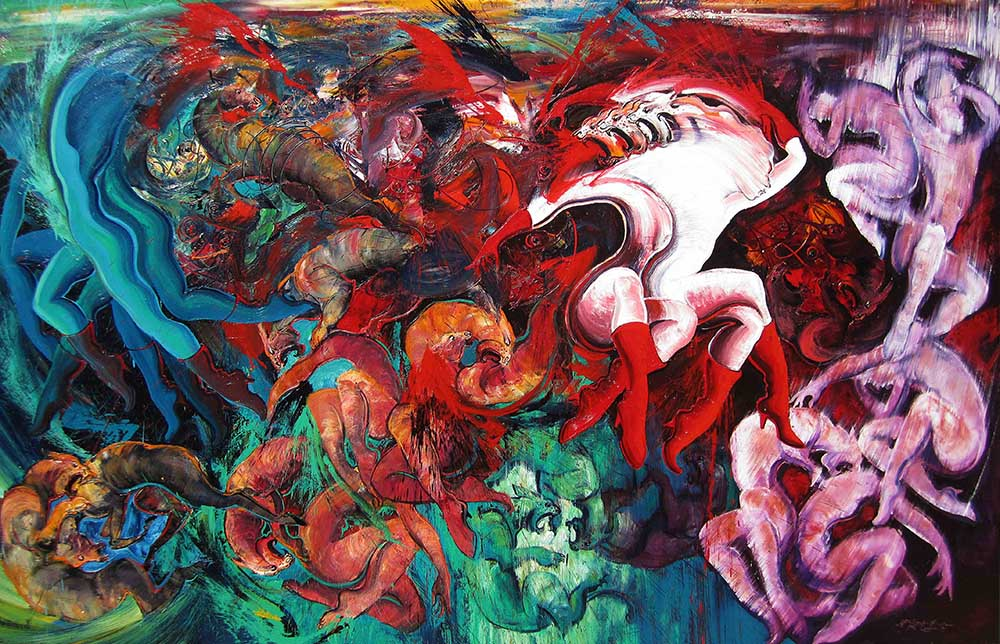 Hidden Spirit of Woman, 190 x 300 cm, 2012, Oil on Canvas